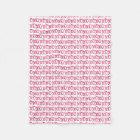 XOXO Pink Patterned Fleece Blanket