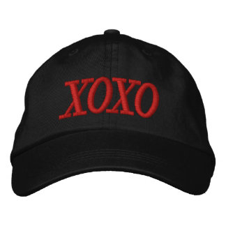 XOXO Red and Black Ladies Cap