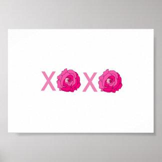 XOXO Rose Print Frameable Poster
