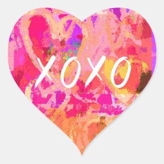 XOXO Valentine Heart Heart Sticker