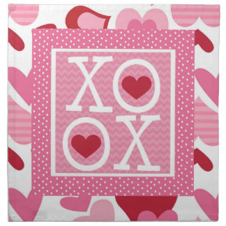 XOXO Valentine Love Gifts Cloth Napkins
