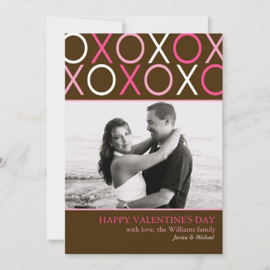 XOXO Valentine's Day Christmas Card