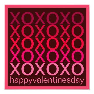 XOXO Valentines Day Party Modern Invitation