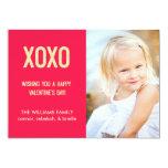 "XOXO Valentine's Day Photo Card 5"" X 7"" Invitation Card"