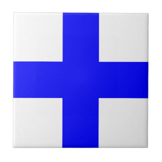 XRAY BLUE CROSS SMALL SQUARE TILE