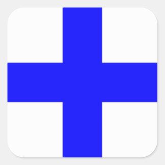 XRAY BLUE CROSS SQUARE STICKER