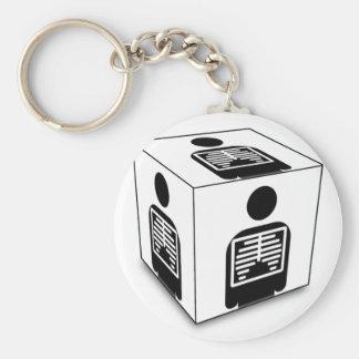 XRAY CUBE BOX RADIOLOGY DIAGNOSTIC IMAGING BASIC ROUND BUTTON KEY RING