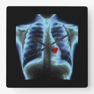 xray heart black clock
