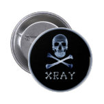 XRAY PIRATE Flag RADIOLOGY JOLLY ROGER Pinback Buttons