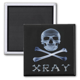 XRAY PIRATE Flag RADIOLOGY JOLLY ROGER Square Magnet