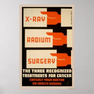 Xray Radium Surgery Vintage WPA Poster