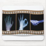 XRAY SIGN LANGUAGE FILM - HAND OK HANDSHAKE MOUSE PAD