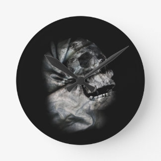 XRay Skull Head Scan Skeleton Round Clock