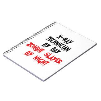 XRay Technician Zombie Slayer Spiral Note Books