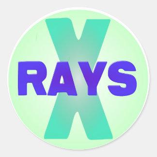 xrays round sticker