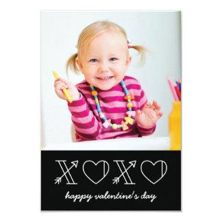 Xs & Os Classroom Valentine - Black 9 Cm X 13 Cm Invitation Card