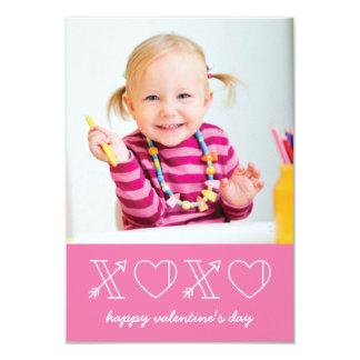 Xs & Os Classroom Valentine - Magenta 9 Cm X 13 Cm Invitation Card