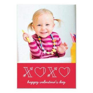 Xs & Os Classroom Valentine - Rose 9 Cm X 13 Cm Invitation Card