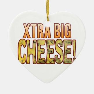 Xtra Big Blue Cheese Ceramic Heart Decoration