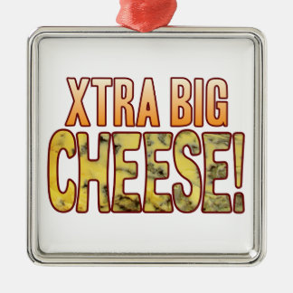 Xtra Big Blue Cheese Silver-Colored Square Decoration
