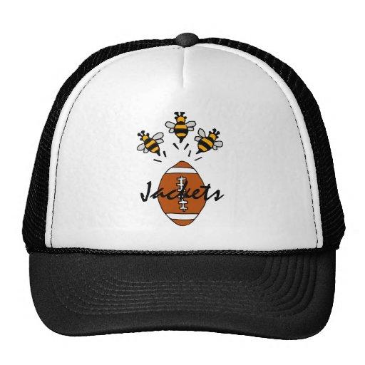 XU- Yellow Jackets Flying from Football Cartoon Hat