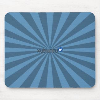Xubuntu Linux Blue StarBurst Mouse Pads