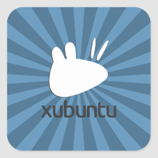 Xubuntu teal starburst square sticker