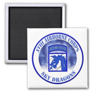 XVIII 18th Airborne Corps 002 Square Magnet