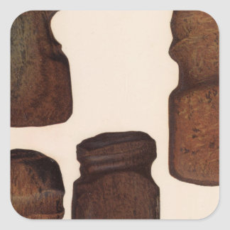 XVIII Stone implements, New Mexico Square Sticker