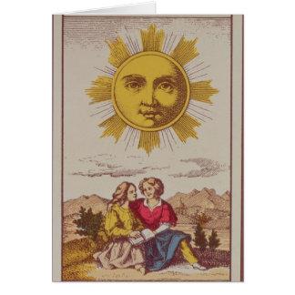 XVIIII Le Soleil, French tarot card of the Sun