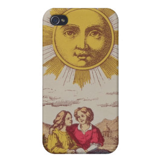 XVIIII Le Soleil, French tarot card of the Sun Case For iPhone 4