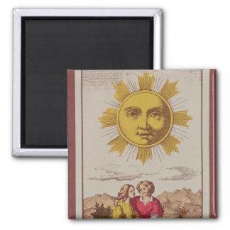 XVIIII Le Soleil, French tarot card of the Sun Magnet