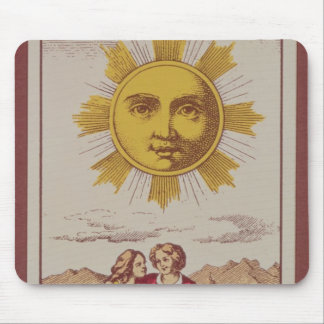 XVIIII Le Soleil, French tarot card of the Sun Mouse Mat