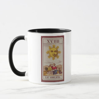 XVIIII Le Soleil, French tarot card of the Sun Mug