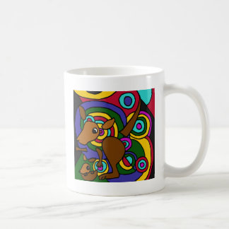 XX- Abstract Art Kangaroo Coffee Mug