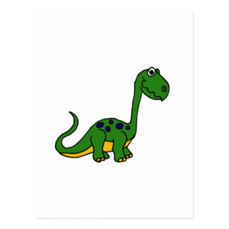 XX- Adorable Cute Dinosaur Cartoon Postcard
