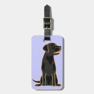 XX- Artistic Black Labrador Cartoon Luggage Tag