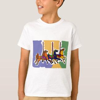 XX- Artistic Carousel Horses Folk Art T-Shirt