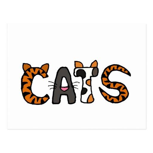 XX- Artistic CATS Design Postcard