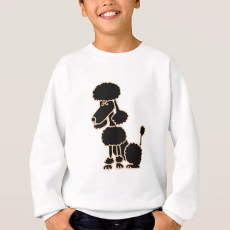 XX- Awesome Black Poodle Sitting Cartoon Sweatshirt