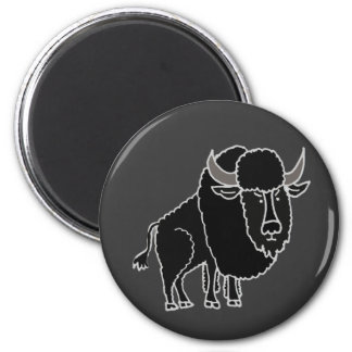 XX- Awesome Buffalo Cartoon Magnet