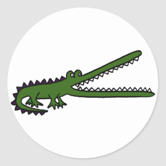 XX- Awesome Crocodile Classic Round Sticker