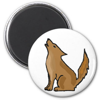 XX- Awesome Howling Coyote Fridge Magnets