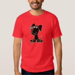 XX- Black Puppy Dog with Butterfly on Nose T-shirts