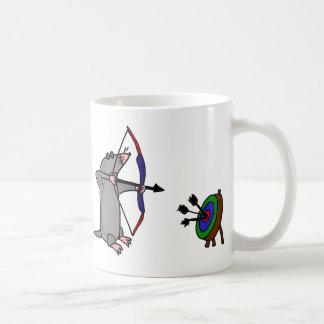 XX- Blind Mole in Archery Competition Basic White Mug