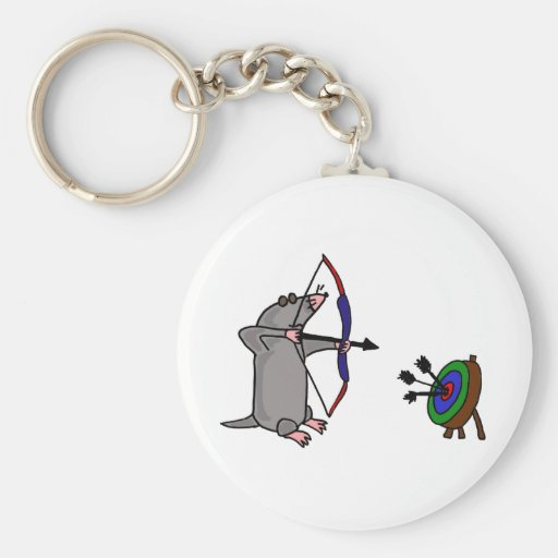 XX- Blind Mole in Archery Competition Keychain