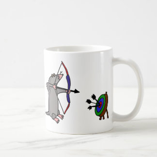 XX- Blind Mole in Archery Competition Coffee Mugs