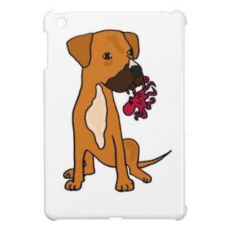 XX- Boxer Mix Rescue Dog Eating Octopus iPad Mini Cases