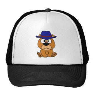 XX- Brown Bear Wearing Cowboy Hat Cartoon