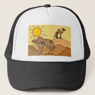 XX- Camel in the Desert Folk Art Trucker Hat